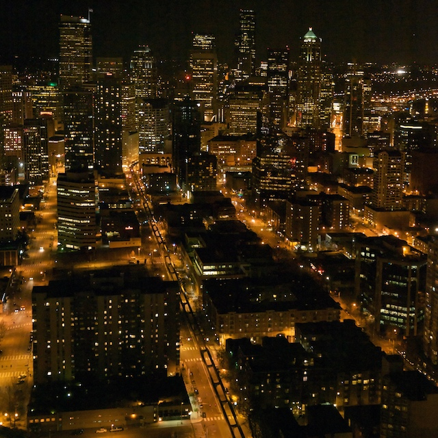 City ablaze