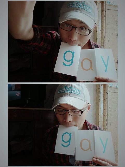 此GAY非彼GAY   無聊得拿拼音卡片攤開來玩. 結果順手拿起來的三張正好能拼成這個. [21/03/2009/於東鍋…   Ng Yui ...