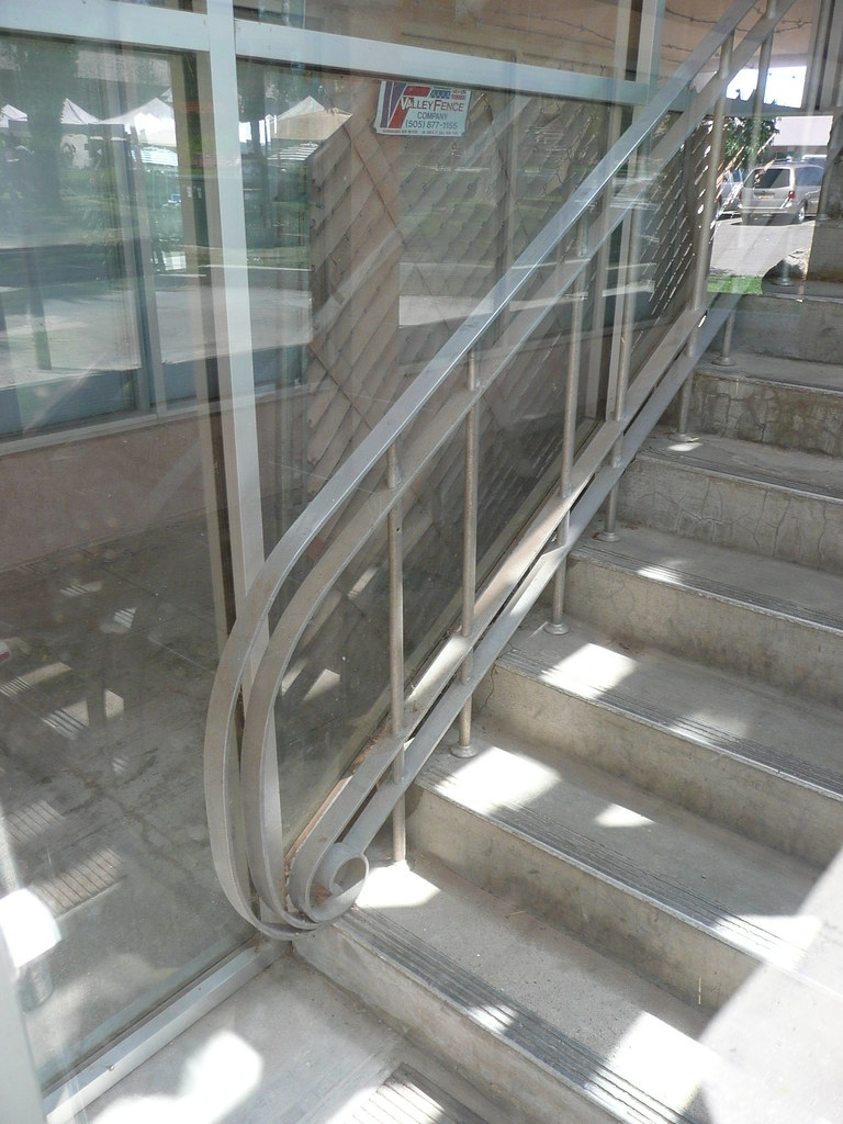 Los Alamos Nm Mid Century Modern Building Handrail Flickr | Mid Century Modern Handrail | Cantilevered Spiral Stair | Art Deco | Modern Walnut | Tree Branch | Railing