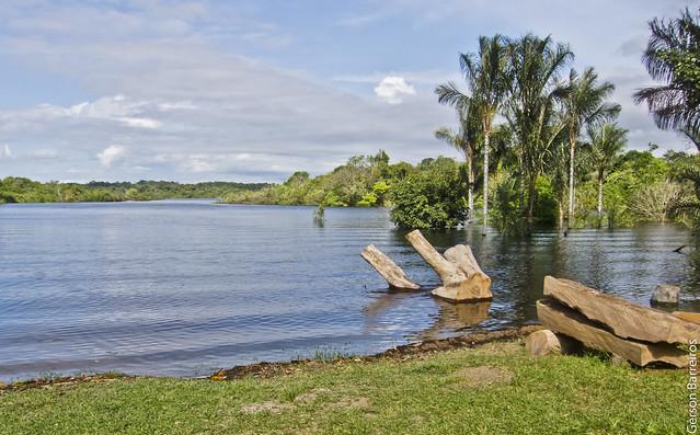 View in front of the Museu Seringal Vila Paraíso - Manaus/Amazonas/Brazil