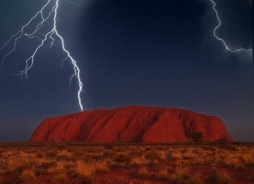 Uluru Storm Uluru Pa258916 Edit Steve Daggar Flickr