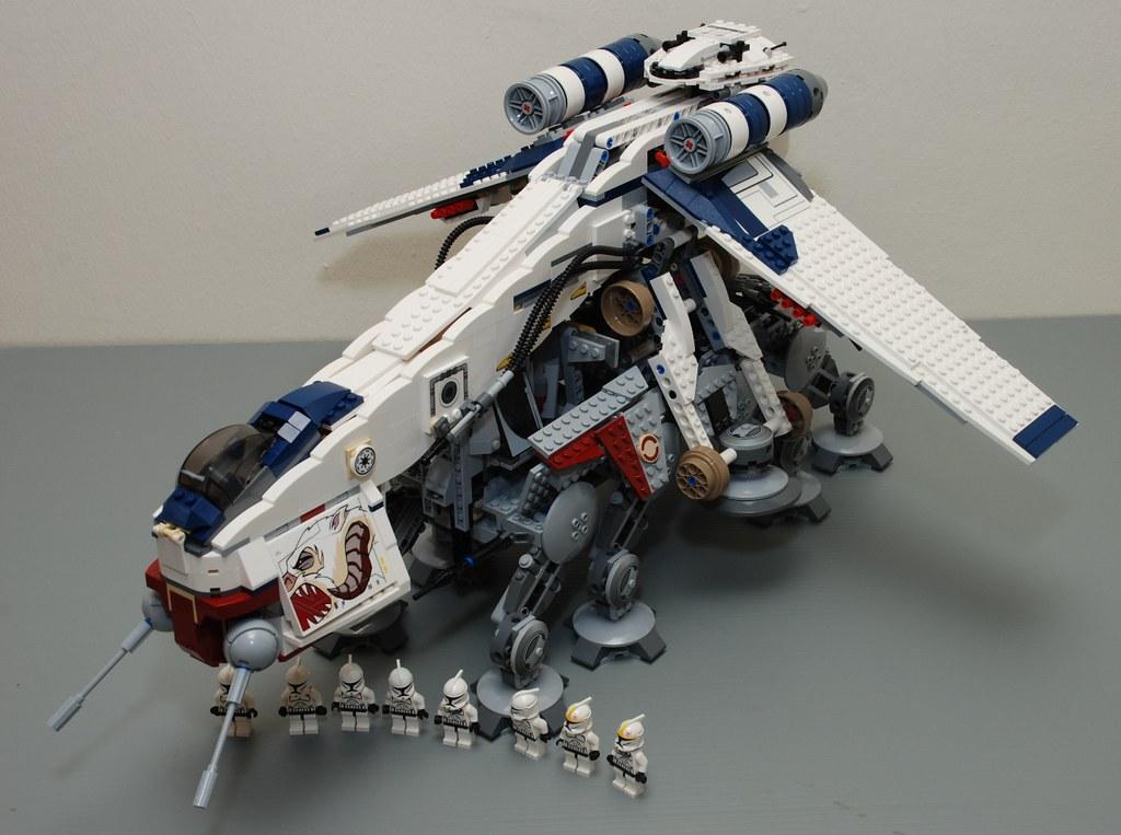 Star Wars Lego 10195 Republic Dropship With At Ot Star War