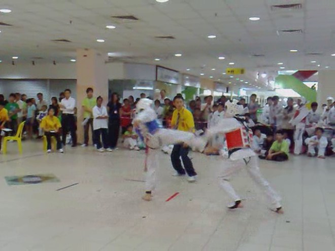 Farid in Tae kwon Do Fight