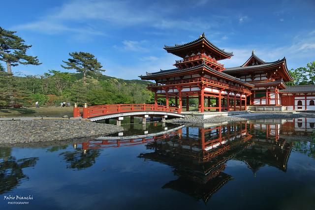 Tempio Byōdō-in nella luce del tardo pomeriggio - Uji