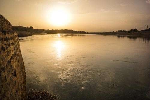 Sunset over the Karun