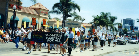 P122.002m.r.t GLSEN (Gay Lesbian Straight Education Network) marching in the 2000 Pride Parade