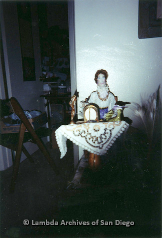"""P126.032m.r.t Muriel Fisher's: """"Doll"""" photographed in her apartment"""