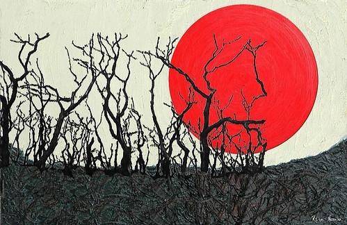 Land of the Red Giant A Final Landscape acrylic