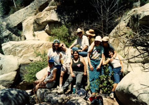 P008.144m.r.t Cuyamaca 1991: Group photo on the trail