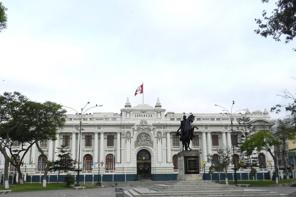 Peru Lima fachada exterior Palacio del Congreso de la Republica 02