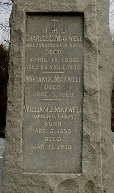 Maxwell Family Headstone Detail