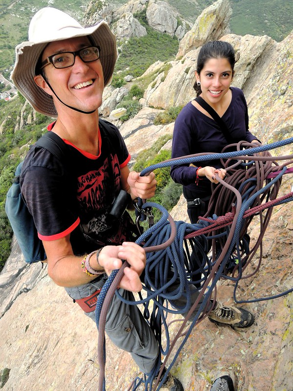 The ropes were a complete disaster at this belay, and I only did slighter better at the others by bryandkeith on flickr