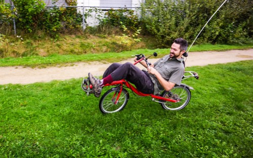 First ride of the recumbent