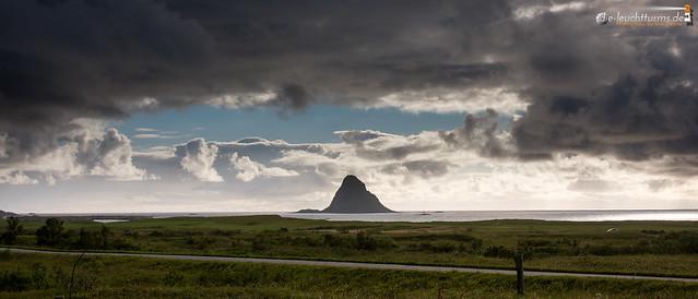 Dramatic sky above Bleiksøya