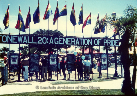 P243.029m.r.t Entrance of Long Beach Gay Pride Festival 1989
