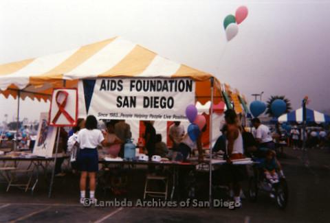 P197.030m.r.t AIDS Walk San Diego 1993: AIDS Foundation San Diego booth