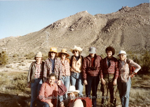 P008.053m.r.t In-Ko-Pah Mountains 1984: Group photo