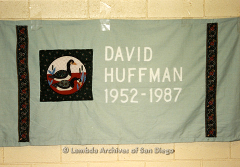AIDS Quilt at San Diego Golden Hall 1988: Quilt dedicated to David Huffman