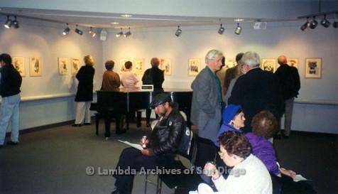 P126.043m.r.t Michelangelo Project by Jim Machecek: Visitors standing around exhibit
