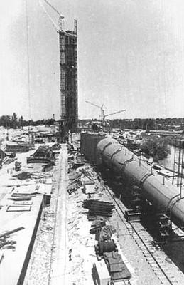 1980 г. 20 мая. Строительство ташкентской телебашни. Фото ...
