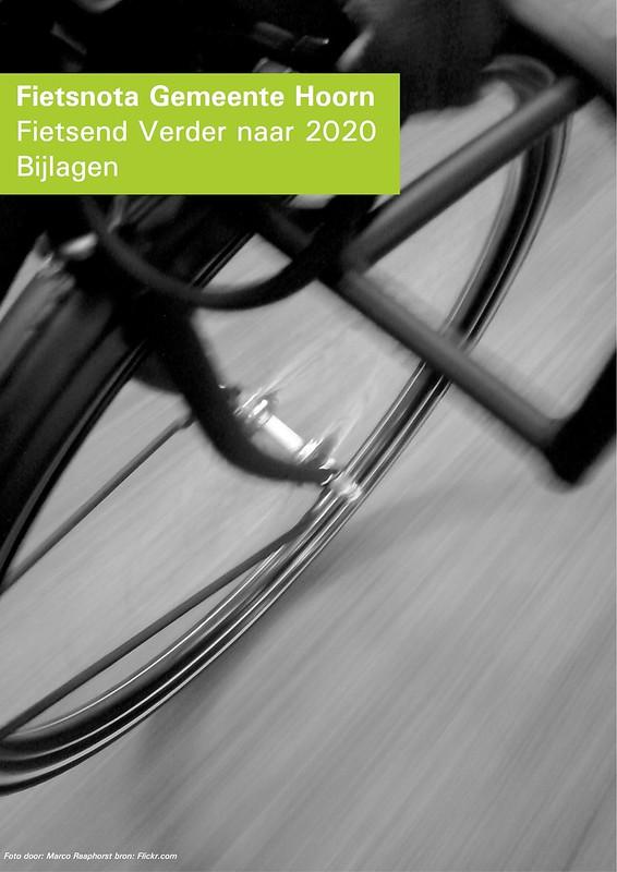 Mijn foto gebruikt als voorblad voor Fietsnota van Gemeente Hoorn