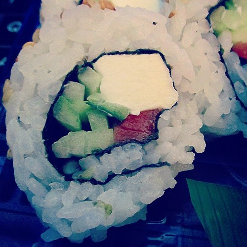 Got to satisfy my craving #100happydays #day59 #sushi #creamcheesesalmon