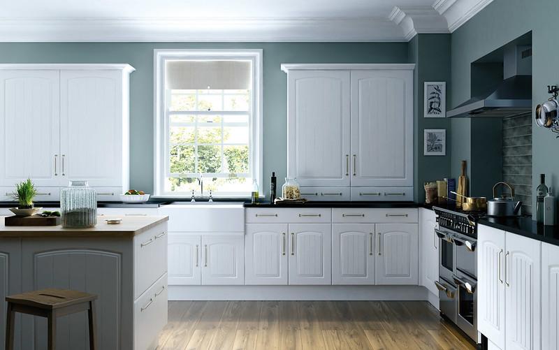 Apex Cottage White Kitchen