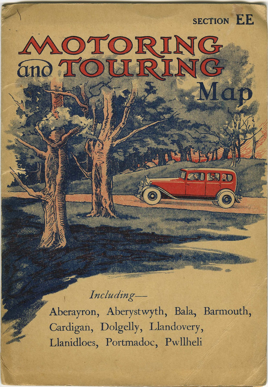 Motoring Map Cover from 1933