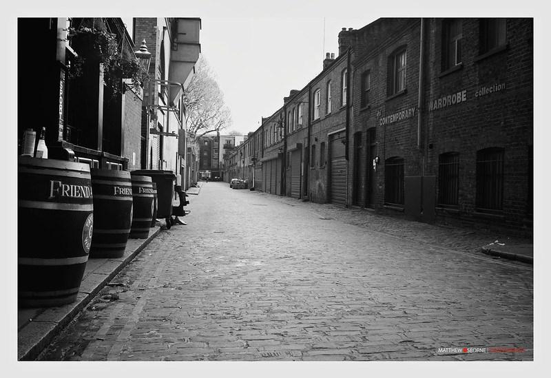Vintage London Street Black and White