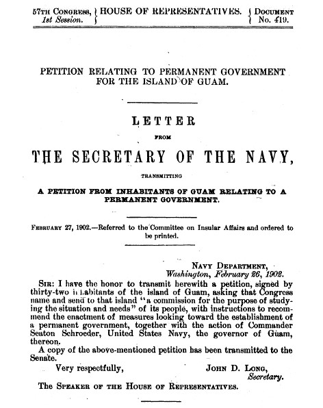 1901 Petition, Page Section