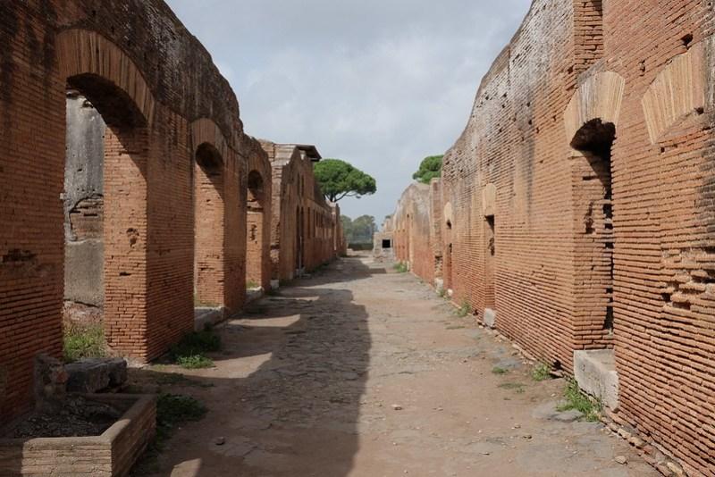Insulae (housing blocks) in Ostia Antica