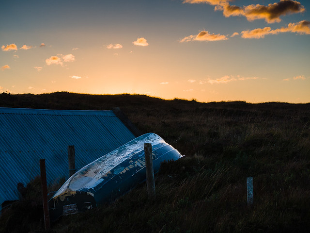 Boat and Boat Shed at Loch Osgaig