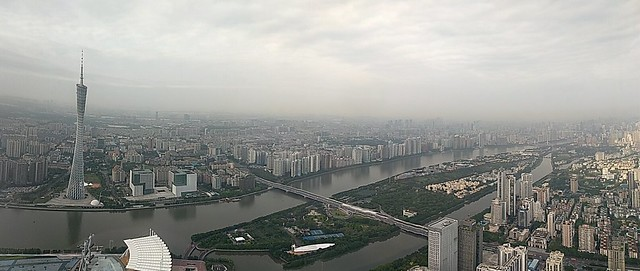 Skyline of Guangzhou from the IFC Tower 94th Floor