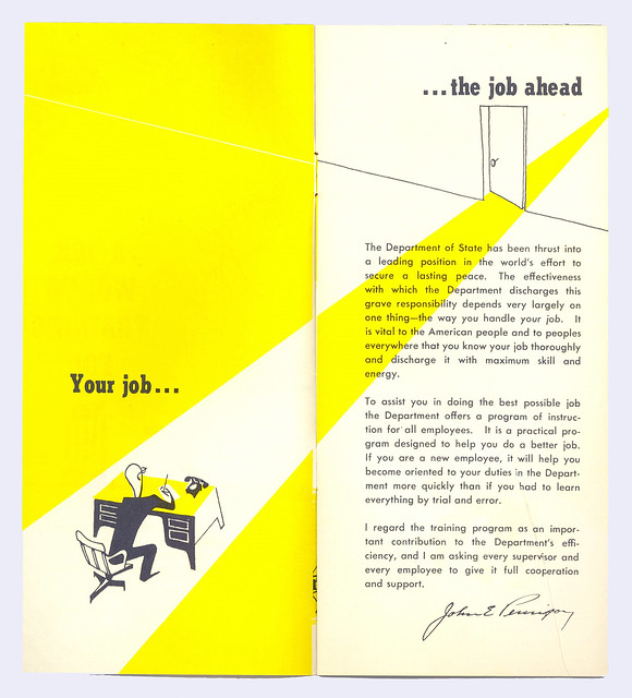 "Pamphlet ""A Job Worth Training For"""