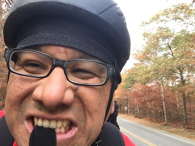 Fall Foliage Cycling Selfie
