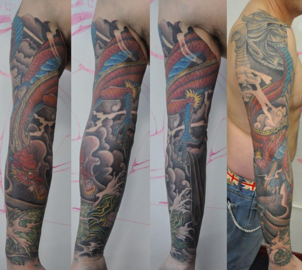 Japanese Style Dragon Tattoo Samurai Dragon Japanese In S Flickr