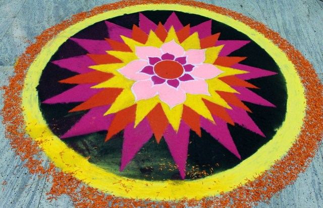 rangoli at mumbai airport