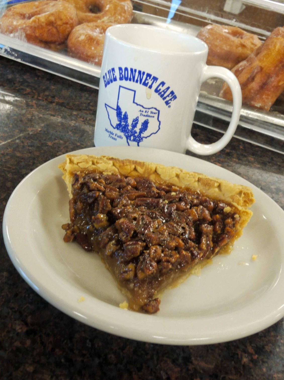 pecan pie at the blue bonnet cafe