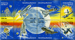 space stamp detail | The 18-cent Space Achievement ...
