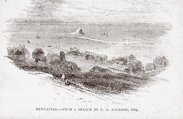 C917-0011 (Nobby's) Newcastle, from a Sketch by J.A. Jackson, c.1840s