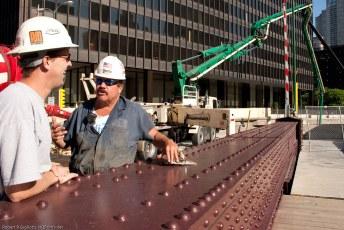 Trump tower construction worker