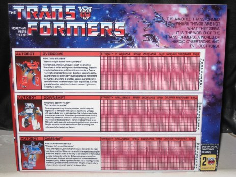 Image result for transformers back of box