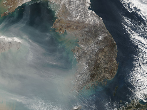 Smog over China and Korea