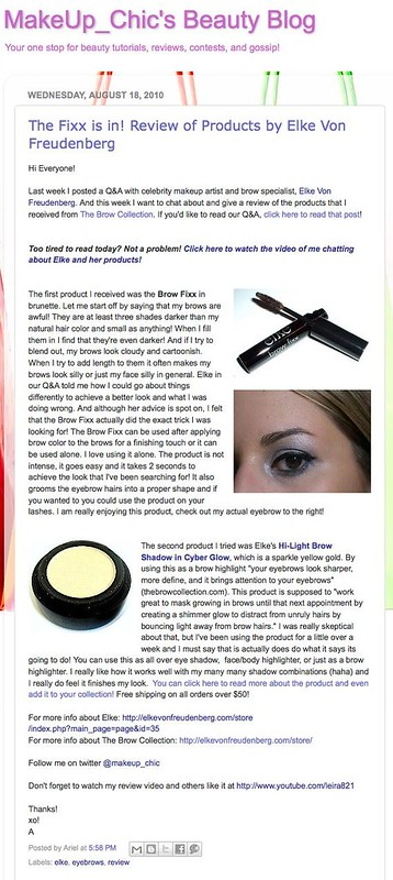 _MakeUp_Chic's Beauty Blog: The Fixx is in! Review of Products by Elke Von Freudenberg