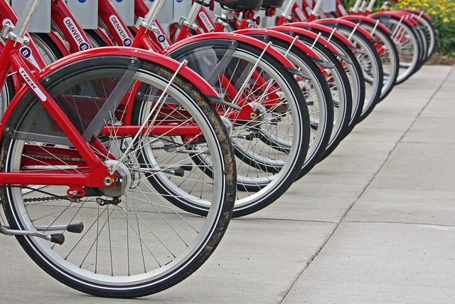 Line of Bicycles