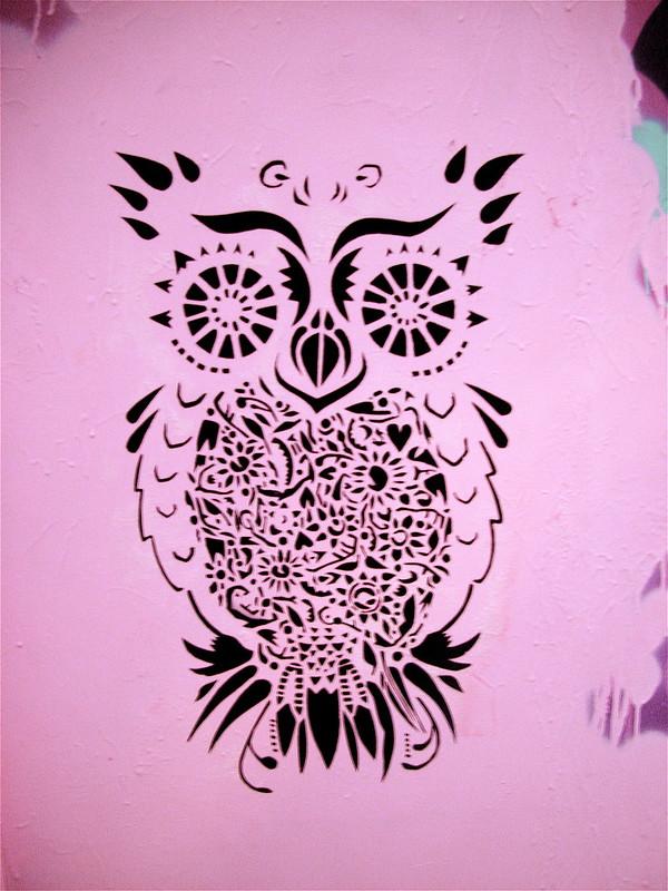 Pink Owl Mural
