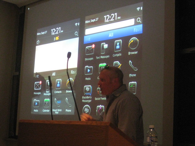 Talk: User Experience Process for Blackberry6