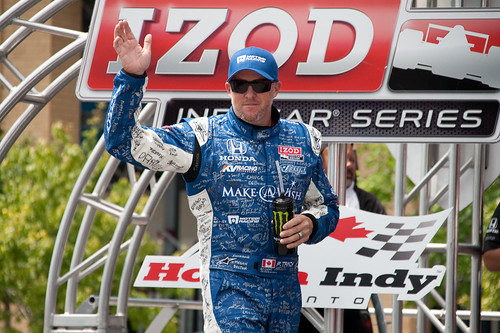 Paul Tracy in the Make A Wish race suit