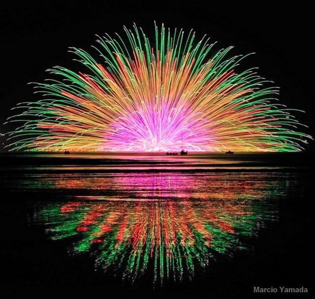 Suwa lake fireworks festival 2010