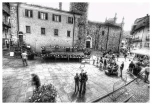 People in Limone Piemonte - HDR